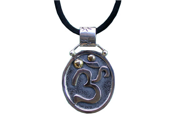 Silver and Brass OM Pendant