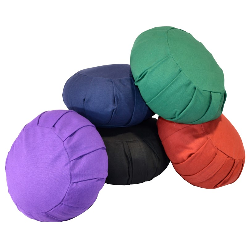 Round Cotton Zafu Meditation Cushion – Green
