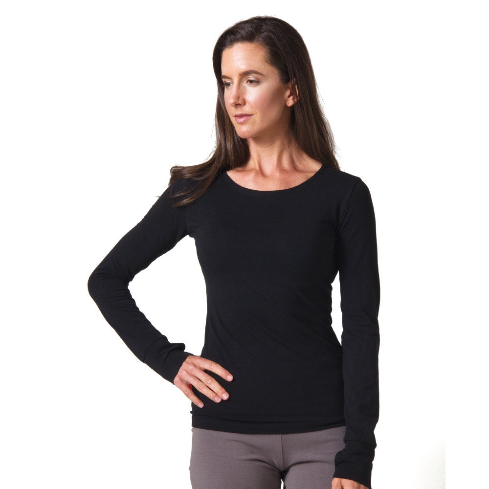 Beckons organic strength long sleeve t shirt yoga direct Yoga shirts with sleeves