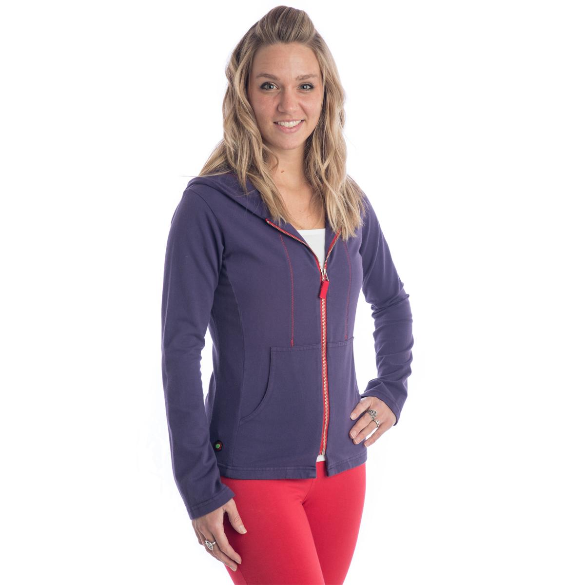 Beckons Organic Strength Zipper Hoodie Yoga Direct