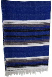 New Striped Traditional Mexican Yoga Blanket