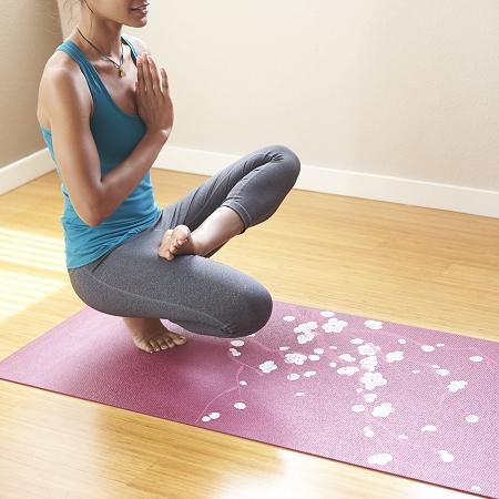 Gaiam Pink Cherry Blossom Yoga Mat Yoga Direct