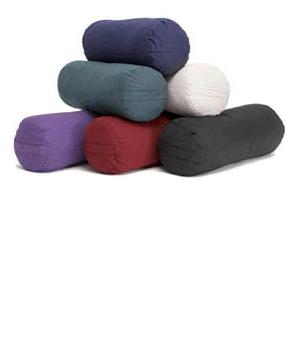 MaxSupport Deluxe Round Cotton Yoga Bolster - Purple