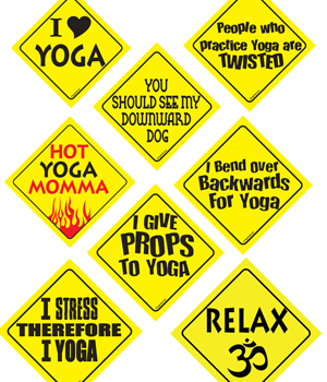 Yoga Pride Car Sign