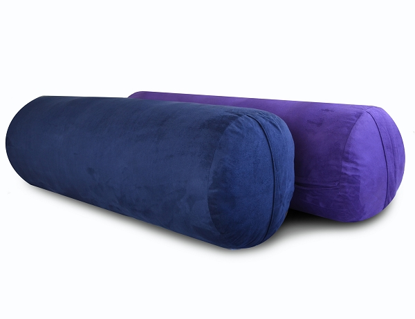 Deluxe Microfiber Large Round Bolster - Blue