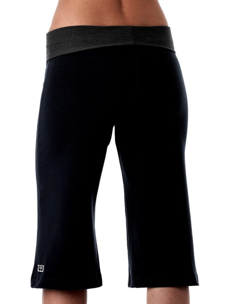 Be Present Womens French Terry Crop Pant Yoga Direct