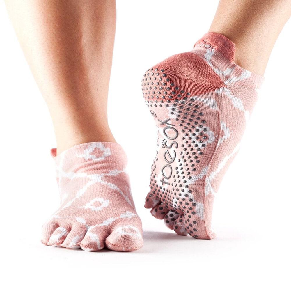Toesox Full Toe Low Rise Grip Socks Yoga Direct