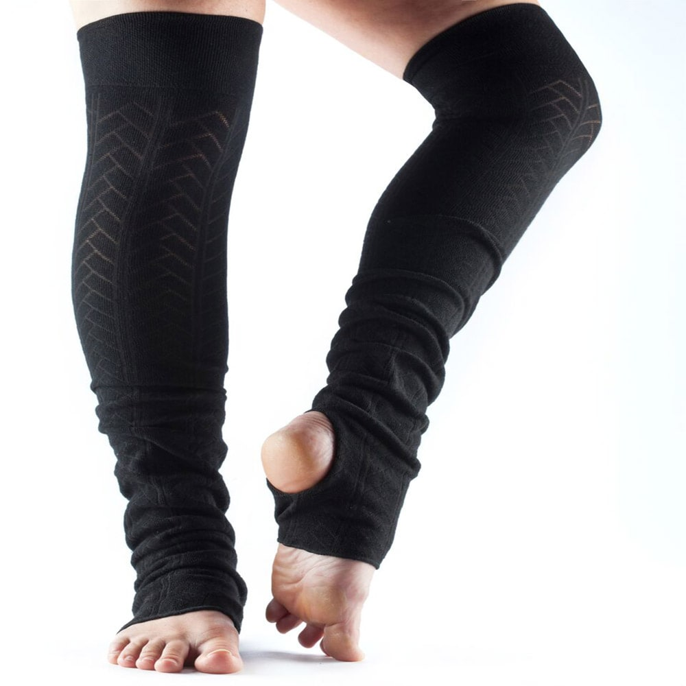 Toesox Leg Warmers Open Heel Yoga Direct