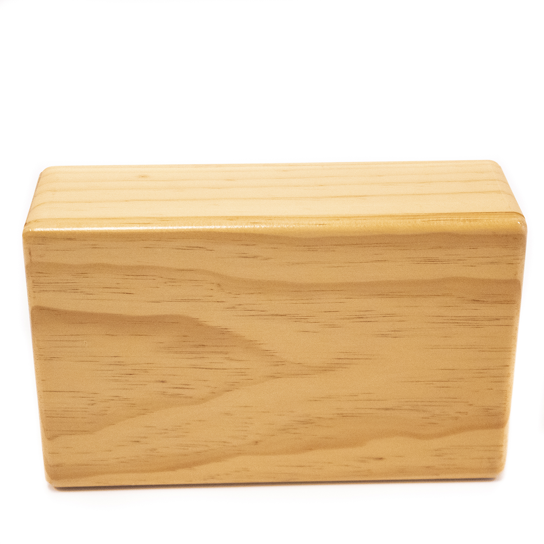 4 Inch Wood Yoga Block