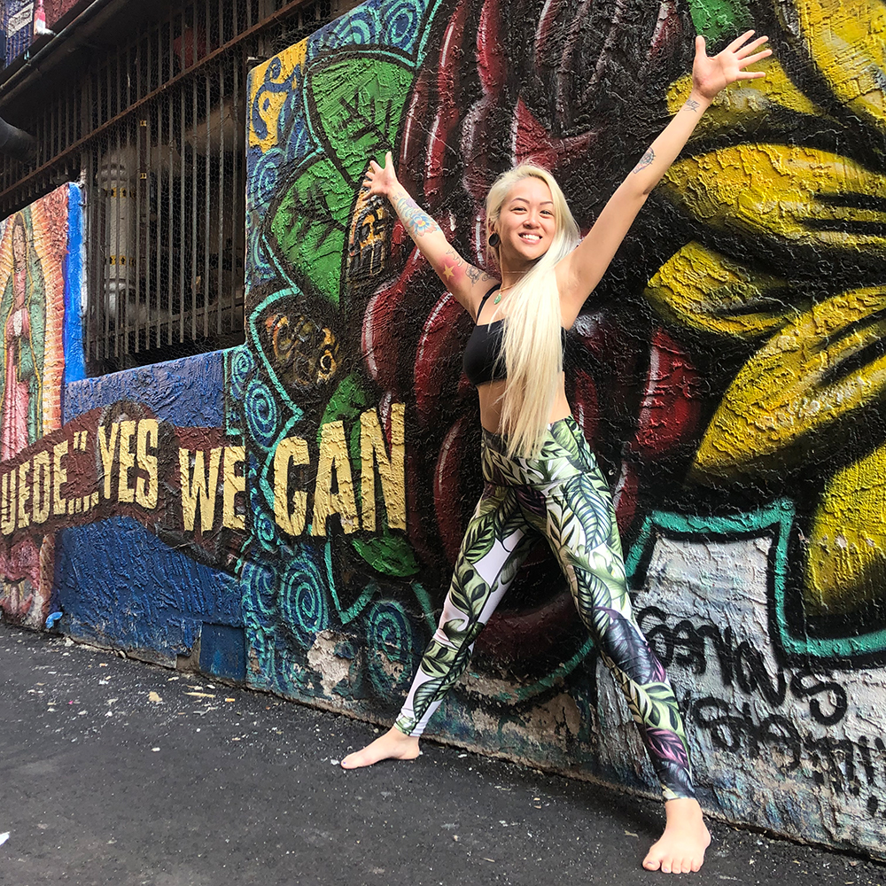 Yoga Democracy Leaf It To Me Yoga Legging