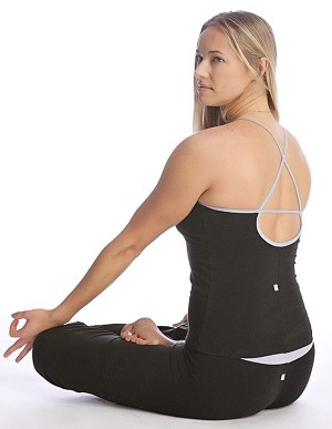 4-rth Women's Sustain Yoga Halter Top