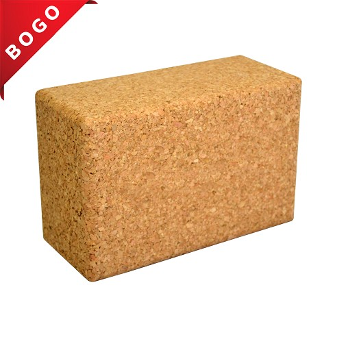 "4"" Cork Yoga Block - Buy One, Get One Free"