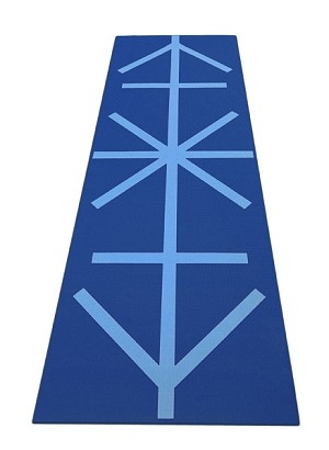 Yoga Direct Premium Printed 1/4 Inch Alignment Yoga Mat