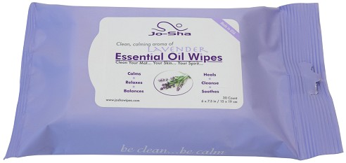 Jo-Sha Yoga Mat Cleaning Wipes - 30 Count