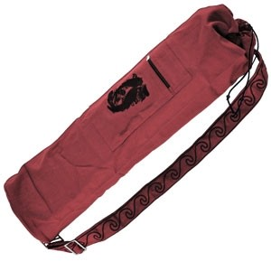 Embroidered Cotton Yoga Mat Bag