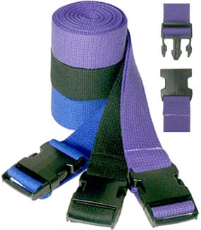 6' Pinch Buckle Cotton Yoga Strap