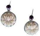 Tagua and Amethyst Earrings