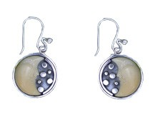 Tagua 1/2 Moon Earrings