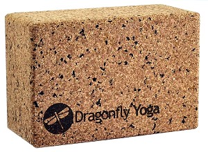 "Dragonfly 4"" Cork and Recycled EVA Foam Yoga Block"