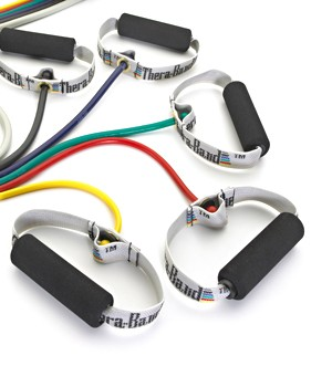 Thera Band Tubing with Soft Handles